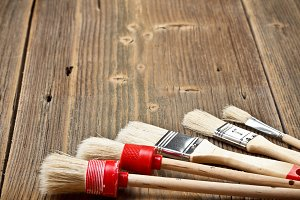 Set of paint brushes