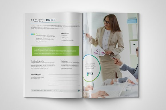 Corporate Clean Business Proposal in Brochure Templates - product preview 4