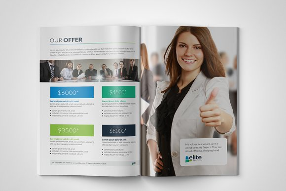 Corporate Clean Business Proposal in Brochure Templates - product preview 6