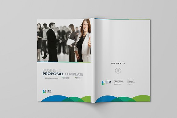 Corporate Clean Business Proposal in Brochure Templates - product preview 9