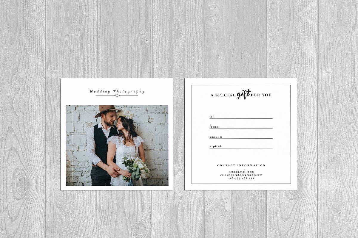 Photographer Gift Card Template Card Templates Creative Market