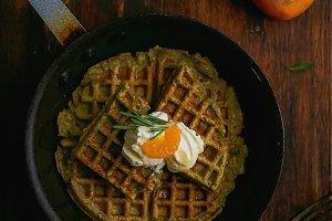 Pan-Cooked Waffles & Mandarins