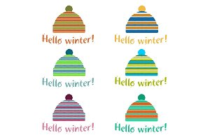 Winter cap illustrations