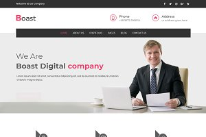 Boast - Corporate WordPress Theme
