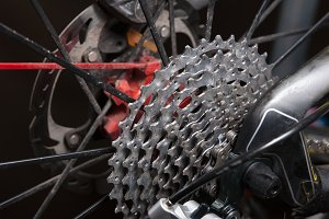 Cassette sprockets of a bicycle