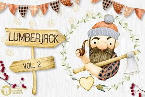 Lumberjack II Watercolor Collection