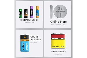 Recharge Online Business Store Elements Banner Set