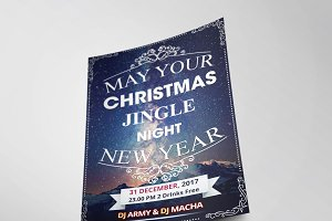 Christmas Party Flyer Template Vol.5