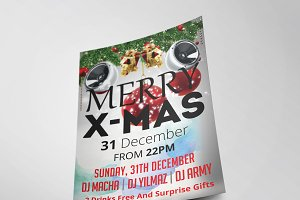 Christmas Party Flyer Template Vol.6