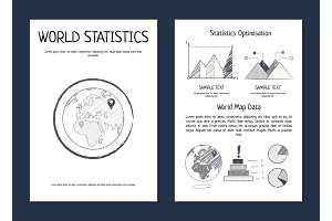 World Statistics Optimization Vector Illustration