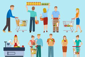 People In Supermarket Collection