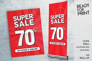 A4 and Roll-Up SUPER SALE up to 70%