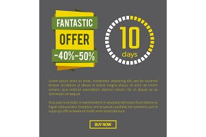 Fantastic Offer -40% Page on Vector Illustration