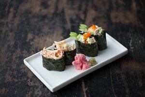 Creamy Sushi Roll, Ginger & Wasabi