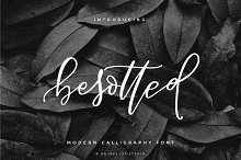 Besotted Modern Calligraphy Script