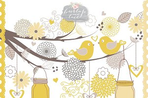 Wedding beige yellow