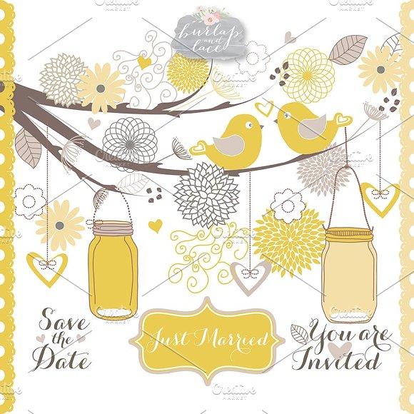 Wedding beige yellow