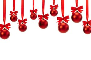 red christmas decoration balls