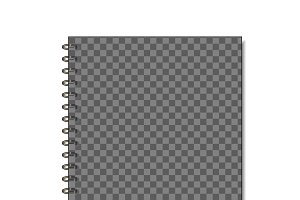 Transparent spiral notepad