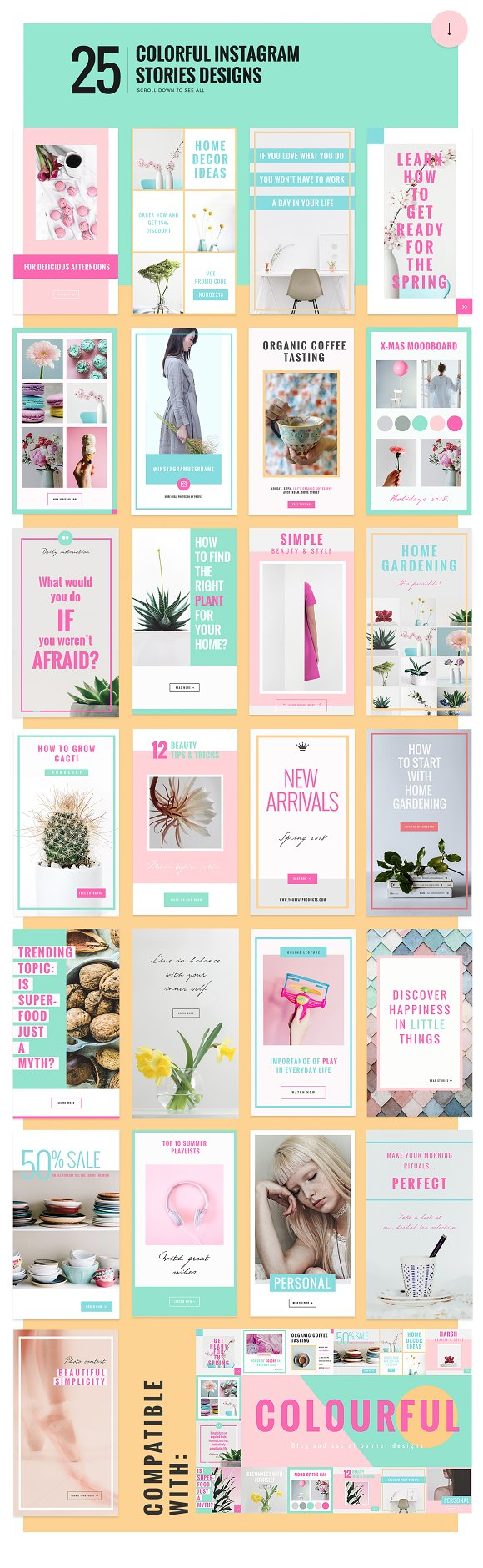 COLORFUL Instagram Stories in Instagram Templates - product preview 1