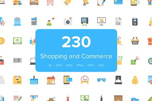 230 Flat Shopping and Commerce Icon