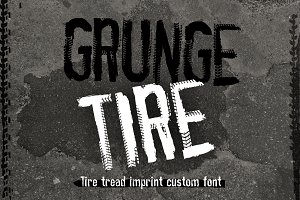 Grunge Tire Font