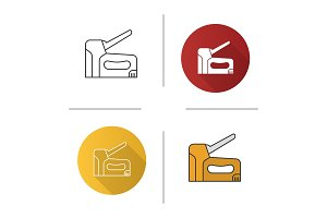 Construction stapler icon