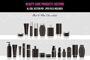 Beauty / Skin Care Products (vector)