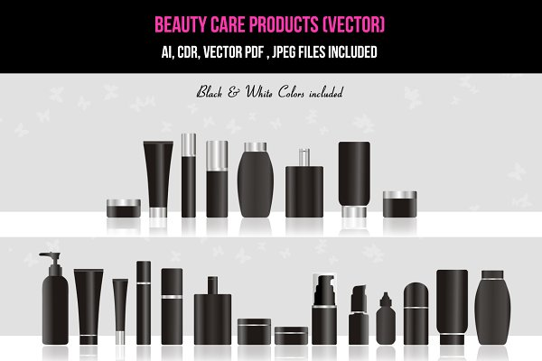 Beauty / Skin Care Products (vector…