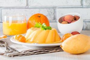 mango orange pudding