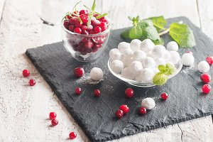 bowl of sugared cranberries