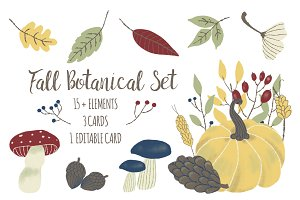 Fall Botanical Set