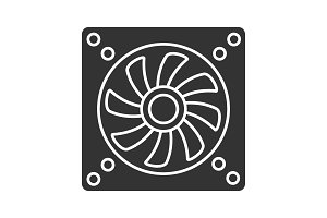 Exhaust fan glyph icon