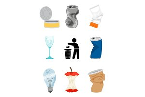 Garbage and waste elements