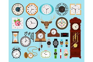 Clocks icons collection