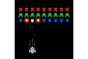 Pixel space invader game