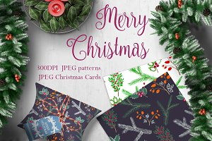CHRISTMAS greeting cards & patterns