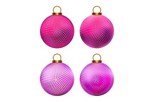 Set of Christmas balls.