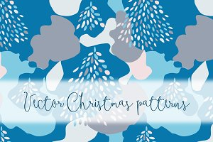 Vector Christmas patterns