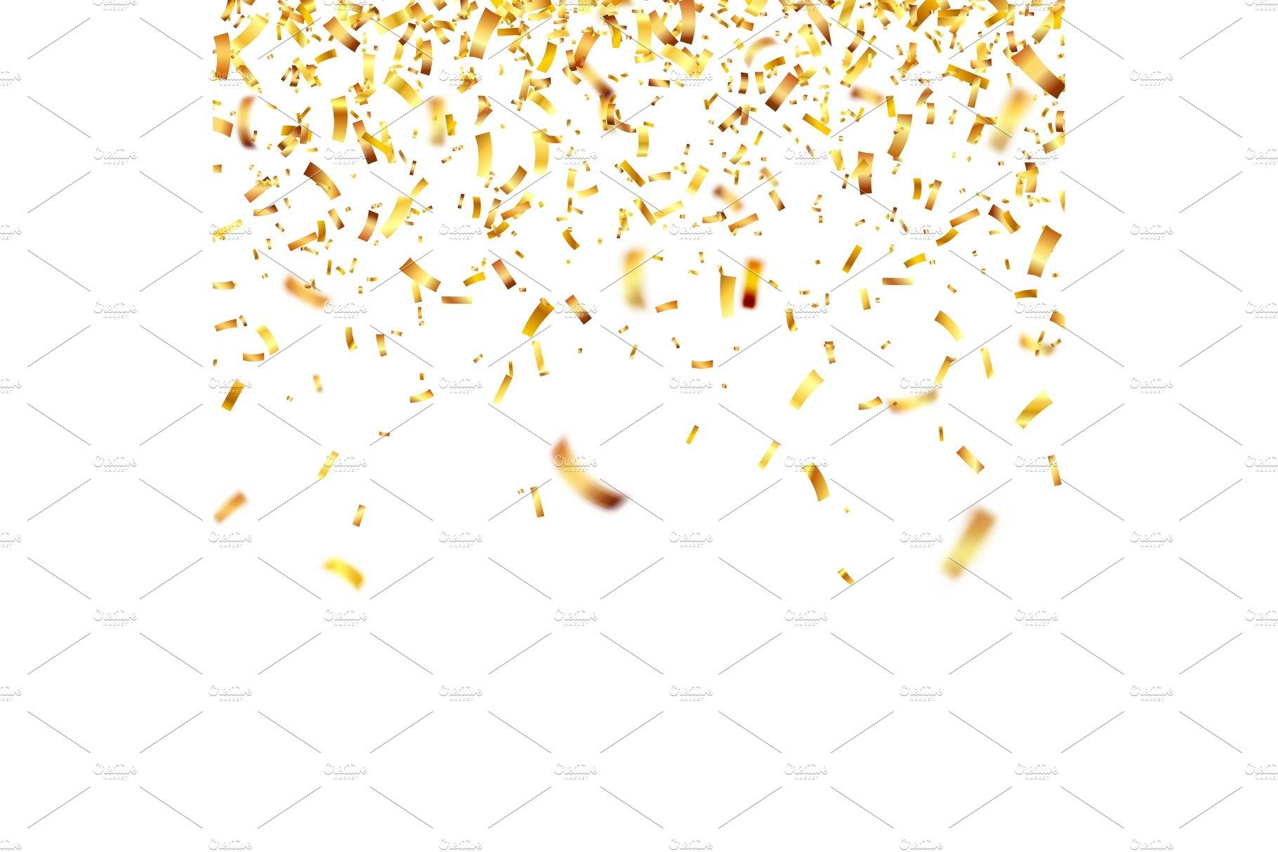 christmas golden confetti falling shiny confetti glitters