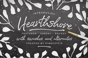 Hearthshore Script + Logos!