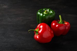 Sweet red Bulgarian pepper