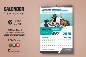 Calender Template 2018