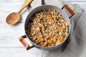 Buckwheat with carrots