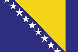 Bosnia and Herzegovina flag.