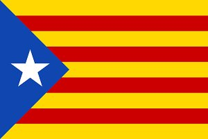 Vector of Catalan flag.
