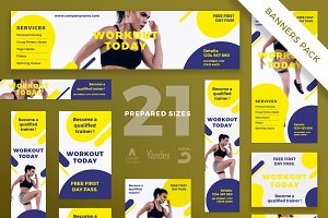 Banners Pack | Workout