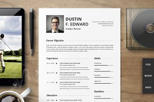 Premium Resume CV Template Set