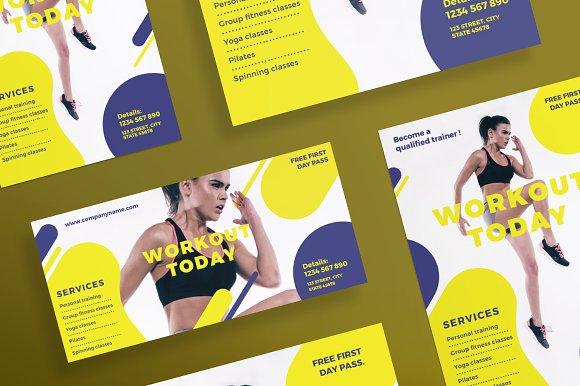 flyers workout flyer templates creative market