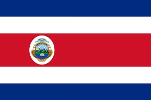 Vector of Costa Rican flag.